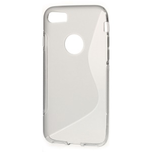 S Shape TPU Phone Case for iPhone 7 4.7 inch - Grey