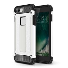 Armor Guard Plastic + TPU Hybrid Shell Case for iPhone 8/7 - White