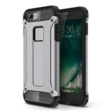 Armor Guard Plastic + TPU Hybrid Case Cover for iPhone 8/7 - Grey
