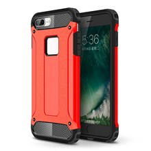Armor Guard Plastic + TPU Hybrid Cover Case for iPhone 8/7 - Red