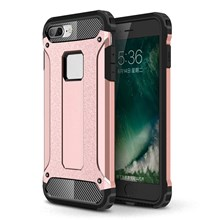 Armor Guard Plastic + TPU Hybrid Shell Cover Case for iPhone 8/7 - Pink