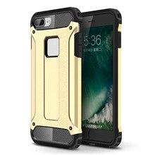Armor Guard Plastic + TPU Hybrid Phone Case for iPhone 8/7 - Gold