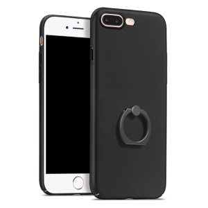 HOCO Rubberized Finger Ring Hard PC Case for iPhone 7 Plus - Black