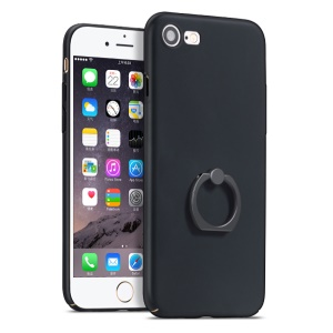 HOCO Shining Star Series Rubberized PC Case with Finger Holder for iPhone 7 4.7 Inch - Black