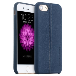 USAMS Joe Series Litchi Texture Leather Back Phone Cover for iPhone 8 / 7 4.7 inch - Blue