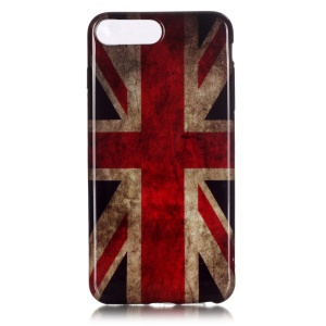 Patterned Glossy TPU Cover for iPhone 7 Plus 5.5 Inch - Retro Union Jack
