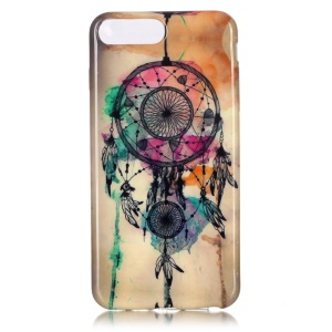 Glossy TPU Case Cover for iPhone 7 Plus 5.5 Inch - Watercolor Dream Catcher