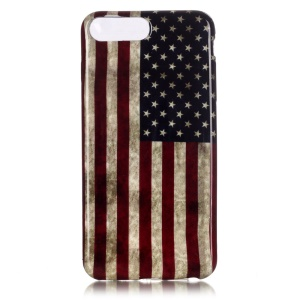 Patterned TPU Protection Case for iPhone 7 Plus 5.5 Inch - Vintage US Flag