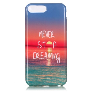 Glossy TPU Gel Case Cover for iPhone 7 Plus 5.5 Inch - Never Stop Dreaming