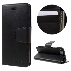 MERCURY GOOSPERY Sonata Diary Leather Wallet Case for iPhone 7 - Black