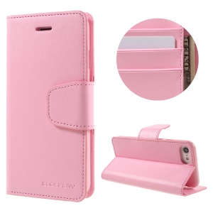 MERCURY GOOSPERY Sonata Diary Leather Wallet Cover Case for iPhone 7 - Pink