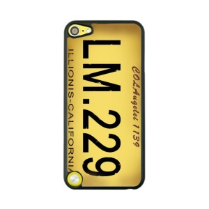 Creative License Plate Hard Back Cover for iPod Touch 5 - Yellow