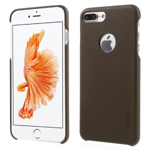 G-Case for iPhone 7 Plus 5.5 Noble Series PU Leather Coated PC Shell - Coffee
