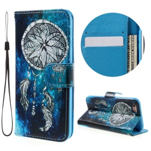 Magnetic Patterned Leather Wallet Stand Cover for iPhone 8 / 7 4.7 inch with Wrist Strap - Dream Catcher
