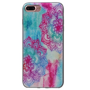Stylish Patterned Flexible TPU Back Case for iPhone 7 Plus 5.5 inch - Mandala