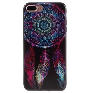 Stylish Pattern Printing Flexible TPU Gel Back Shell for iPhone 7 Plus 5.5 inch - Colorized Dream Catcher