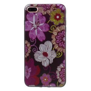 Flexible TPU Back Stylish Patterned Case for iPhone 7 Plus 5.5 inch - Beautiful Floral Pattern