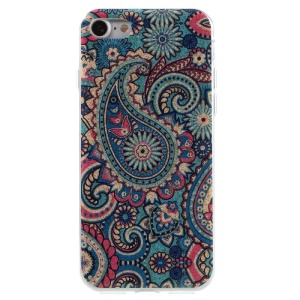 For iPhone 8 / 7 4.7 inch Glittery TPU Gel Back Case - Paisley Pattern