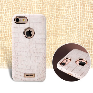 REMAX Maso Series Crocodile Leather Coated Hard Cover for iPhone 7 Plus - White