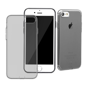 BASEUS Simple Series Clear TPU Case for iPhone 8 / 7 4.7 inch with Dust Plug - Black