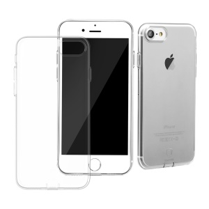 BASEUS Simple Series Clear TPU Cover for iPhone 8 / 7 4.7 inch with Dust Plug - Transparent