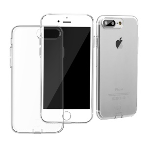 BASEUS Simple Series for iPhone 8 Plus / 7 Plus Clear TPU Cover with Dust Plug - Transparent