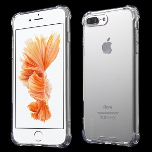 Clear Glossy Impact-resisting TPU Phone Case for iPhone 8 Plus / 7 Plus - Transparent