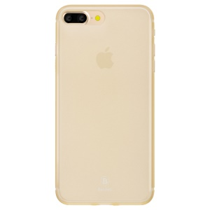 BASEUS Matte 0.5mm Slim PP Back Cover for iPhone 7 Plus - Transparent Gold