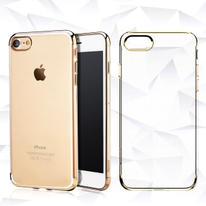BASEUS Electroplated Soft TPU Back Shell for iPhone 8 / 7 4.7 inch - Gold