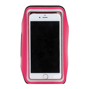 ROCK Outdoor Sports Ultra-thin Running Jogging Armbands for iPhone 6s / 6 with Reflective Stripe - Rose