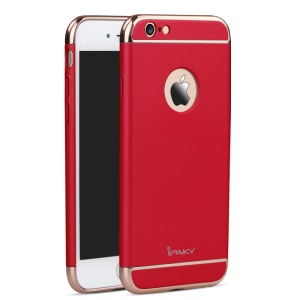 IPAKY Electroplating PC Hard Cover for iPhone 6 Plus / 6S Plus - Red