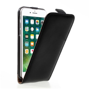 Vertical Flip Split Leather Case for iPhone 7 4.7 inch - Black