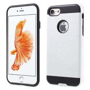 Brushed PC and TPU Hybrid Cover for iPhone 8/7 4.7 inch - White