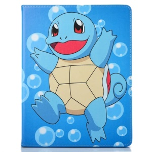 Pocket Monster Smart Stand Leather Tablet Cover for iPad 4/3/2 - Squirtle