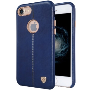 NILLKIN Englon Leather Coated PC Back Cover for iPhone 7 4.7 inch - Blue