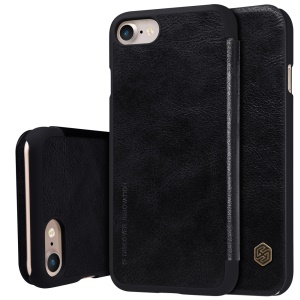 NILLKIN Qin Series Card Holder Leather Phone Case para iPhone 7 4.7 polegadas - preto