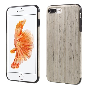 Wood Texture TPU Back Case for iPhone 7 Plus - White