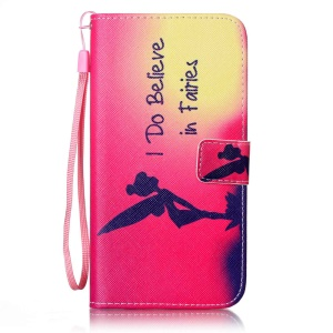 Patterned Wallet Leather Case for iPhone 7 Plus 5.5 inch - I believe in Fairies