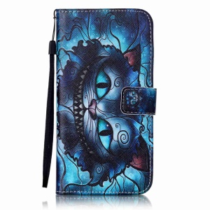 Wallet Leather Stand Cover with Card Slots for iPhone 8 Plus / 7 Plus 5.5 inch- Charming Cat