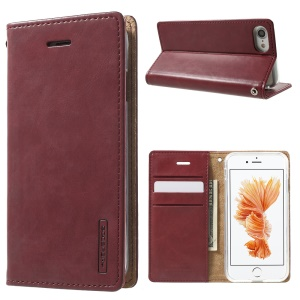 MERCURY GOOSPERY Blue Moon Leather Wallet Cover for iPhone 7 4.7 inch - Wine Red