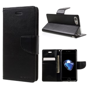 MERCURY GOOSPERY Bravo Diary Wallet Leather Case for iPhone 8 / 7 4.7 inch - Black