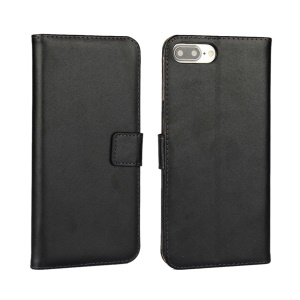 Split Leather Wallet Stand Case for iPhone 7 Plus 5.5 inch - Black