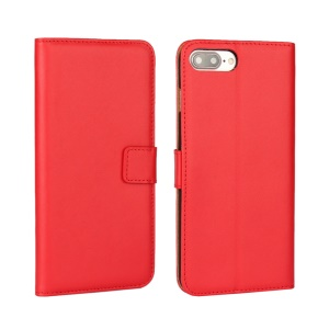 Split Leather Wallet Stand Phone Case for iPhone 7 Plus 5.5 - Red