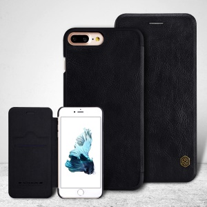 NILLKIN Qin Series Card Slot Leather Phone Case for iPhone 7 Plus 5.5 inch - Black