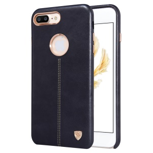 NILLKIN Englon Leather Coated Hard Plastic Back Case for iPhone 7 Plus 5.5 inch - Black