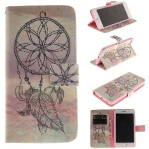 Wallet Leather Magnetic Case for iPhone 7 Plus - Feather Dream Catcher