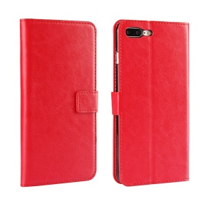 Flip Leather Wallet Shell for iPhone 7 Plus with Stand - Red