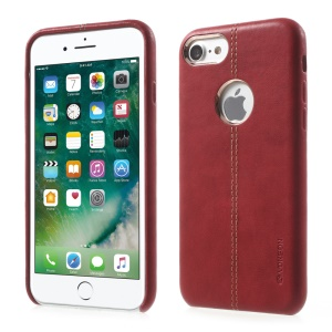 VORSON Luxury Leather Coated Hard Back Case for iPhone 8 4.7 inch / 7 4.7 inch - Red