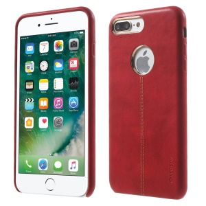 VORSON PU Leather Coated Back Cover for iPhone 7 Plus - Red