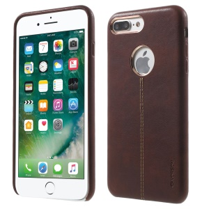 VORSON Fashion Leather Coated Protector Case for iPhone 7 Plus - Brown